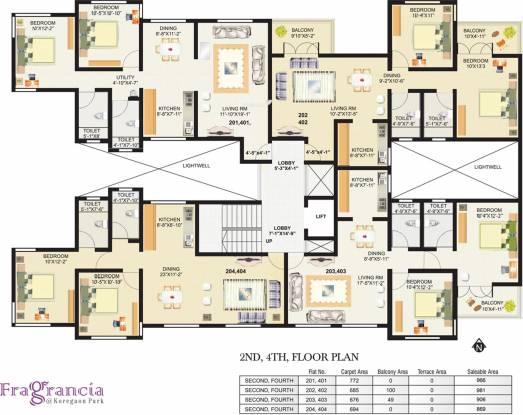 Venkateshwara Fragrancia Cluster Plan