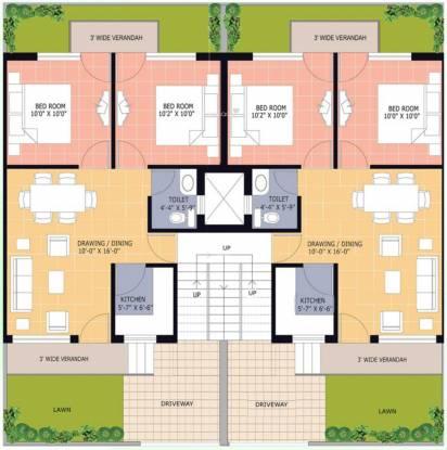 Omaxe Green Meadow Floors Cluster Plan