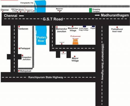 Madras Prakaassam Avenue Location Plan
