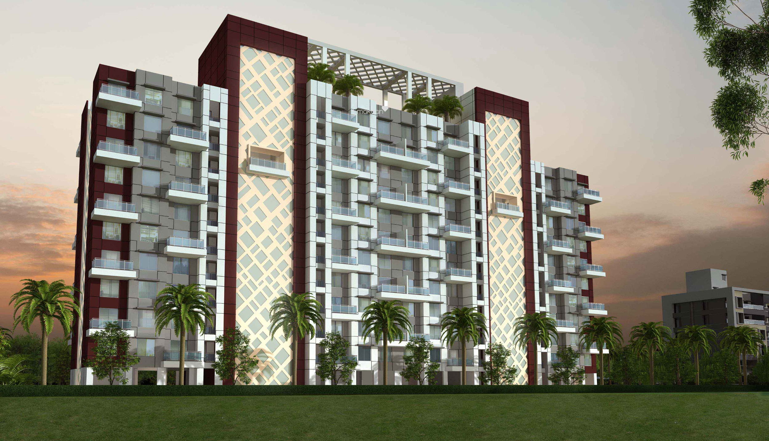 1191 sq ft 2BHK 2BHK+2T (1,191 sq ft) Property By Proptiger In Oasis, Wagholi