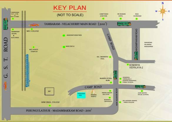 RKN Ektha Villas Location Plan