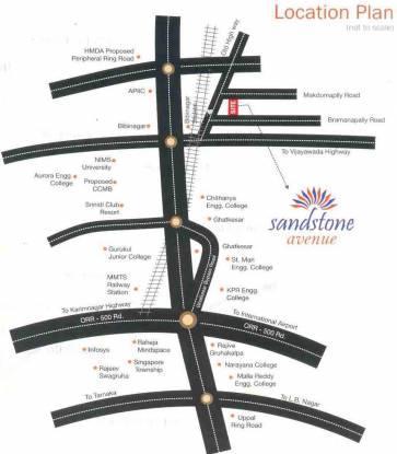 Sree Chandra Sandstone Avenue Location Plan