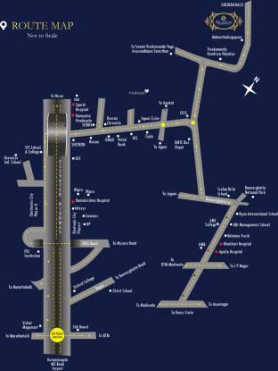 Mahaveer Palatium Location Plan