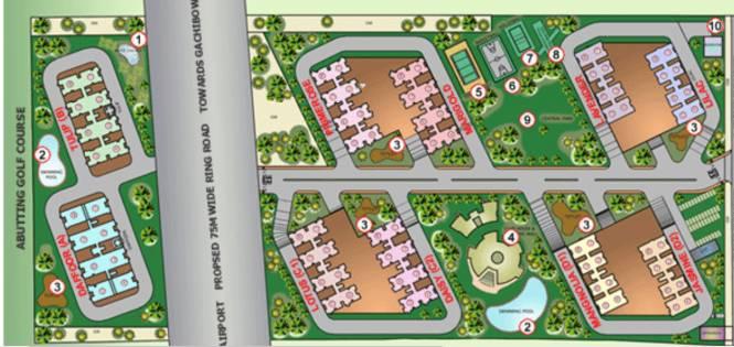 L&T Serene County Site Plan