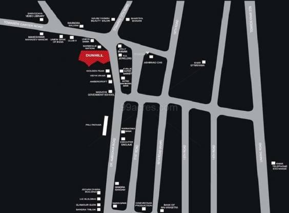 Ahuja Dunhill Location Plan