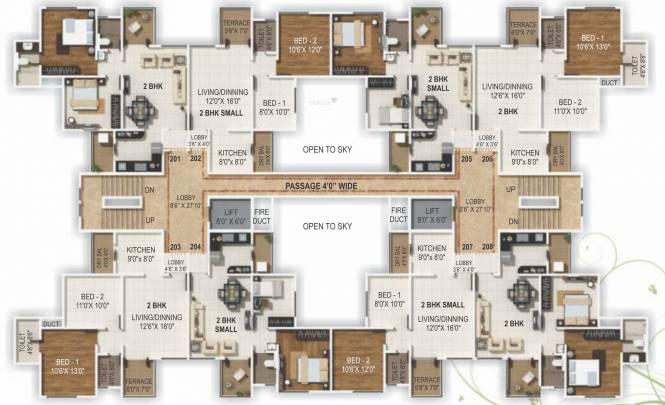 Rainbow Sahwas Apartments Cluster Plan