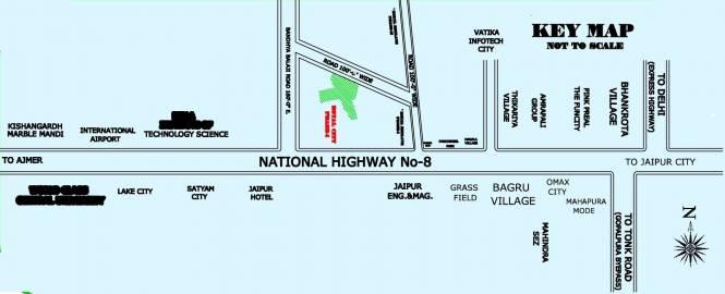 Rajasthan Royal City Phase 1 Location Plan