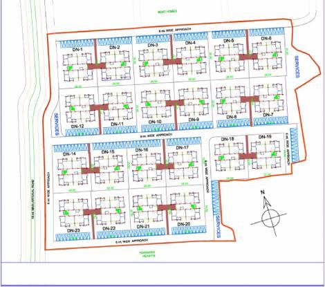 Vedic Duplex Natura Site Plan