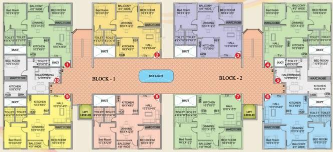 Chirag Palace Cluster Plan