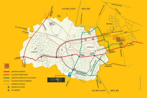 Tashee Orion Galaxy Location Plan