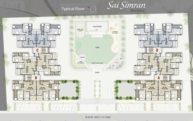 SS Sai Simran Residency Cluster Plan