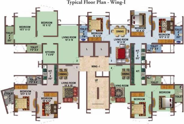 Gurukrupa Marina Enclave Cluster Plan