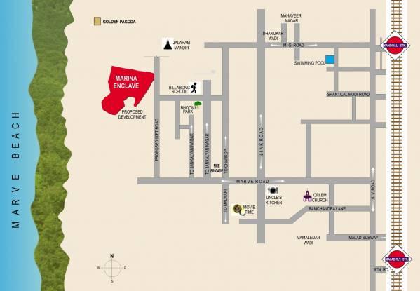 Gurukrupa Marina Enclave Location Plan