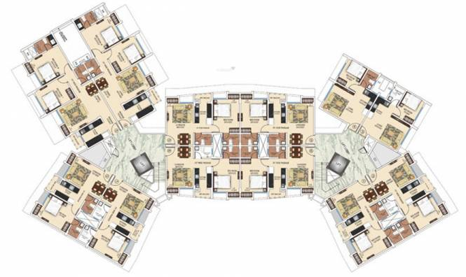Ajmera Heritage City Cluster Plan