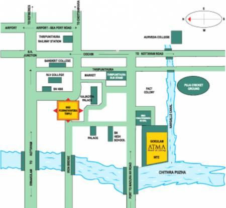 Gokulam Atma Location Plan