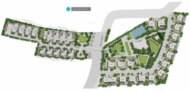 S Raheja Cascades Layout Plan