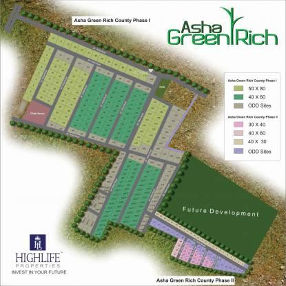 Highlife Asha Green Rich County Layout Plan