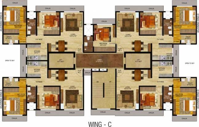 Veena Serenity Cluster Plan