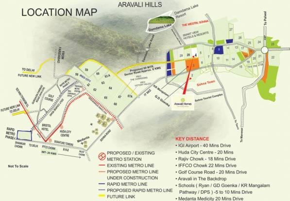 GLS Arawali Homes Location Plan