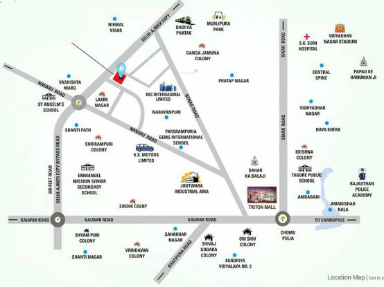 Vardhman Horizon Location Plan