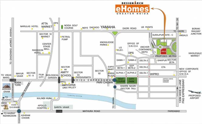 Designarch E Homes Location Plan