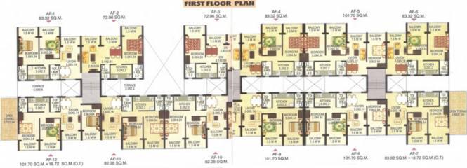Kharangate Rosebowl Park Apartment Cluster Plan