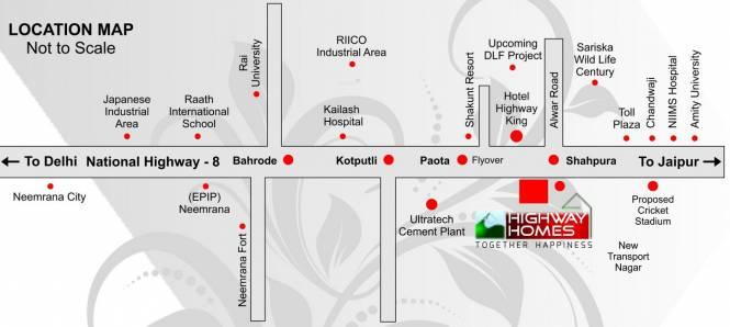 Prestigious Highway Homes Location Plan