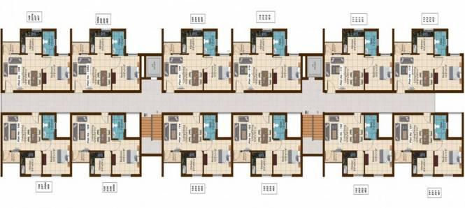 Shriram Shreshta Apartments Cluster Plan
