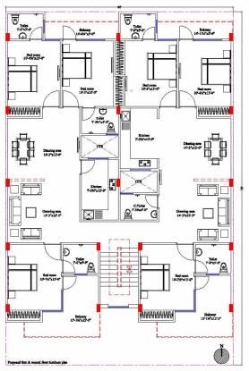 Vinayak Vinayak Apartments Cluster Plan