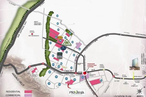DLF Privana Location Plan