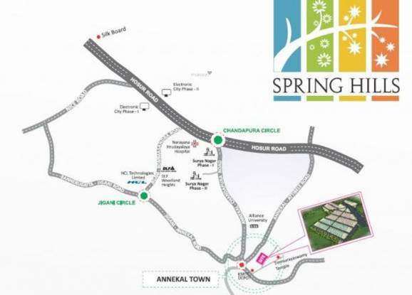 Srinivasa Spring Hills Location Plan