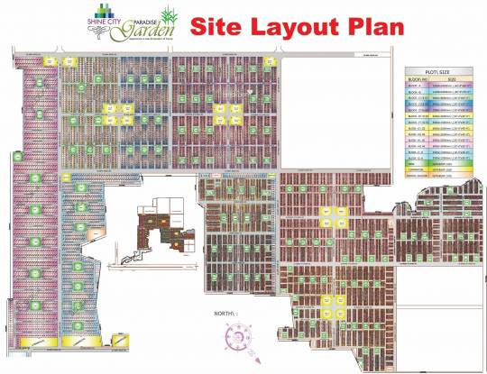 Shine Paradise Garden Layout Plan