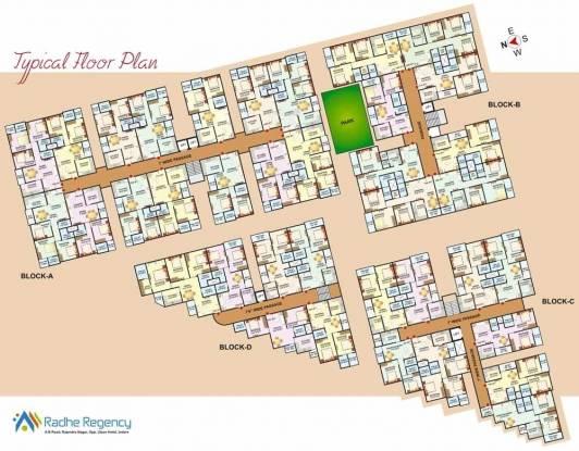 Landmark Radhe Regency Cluster Plan