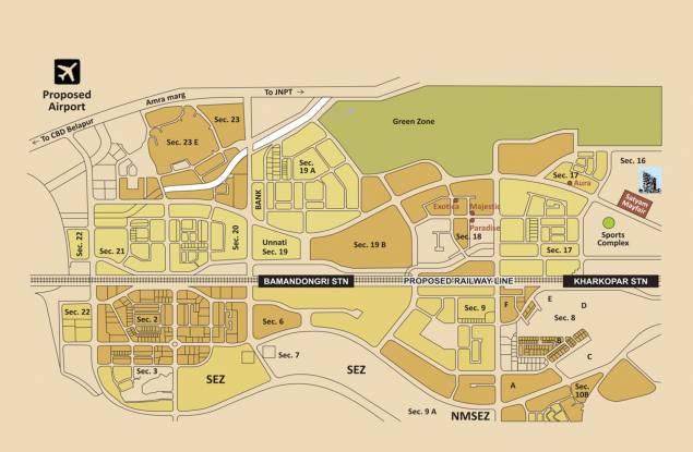 Satyam Mayfair Location Plan