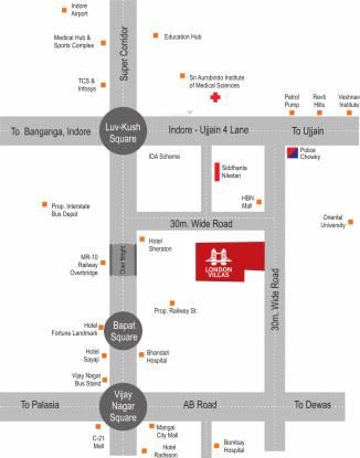 NM London Villas Location Plan
