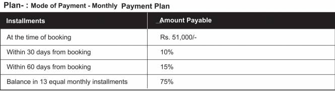 Pumarth Bliss Payment Plan