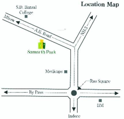 Jiyo Samarth Park Location Plan