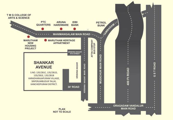 ABI Shankar Avenue Location Plan