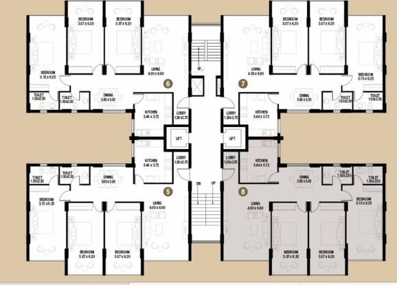 Kamat Construction Pvt Ltd Riviera Cluster Plan