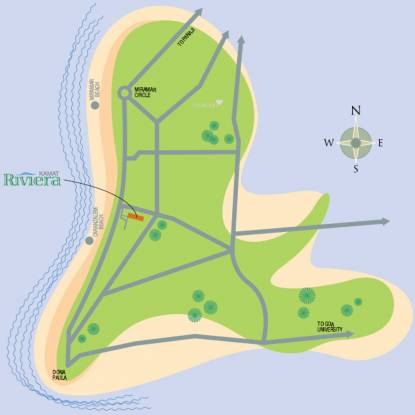 Kamat Construction Pvt Ltd Riviera Location Plan