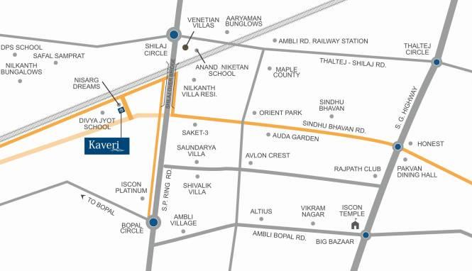 A Shridhar Kaveri Pratham Location Plan