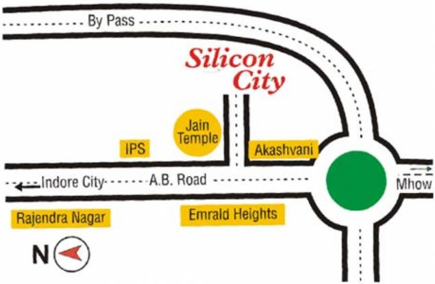 Vastu Silicon City Location Plan