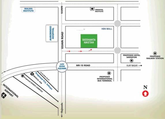 Vastu Siddhanta Niketan Location Plan