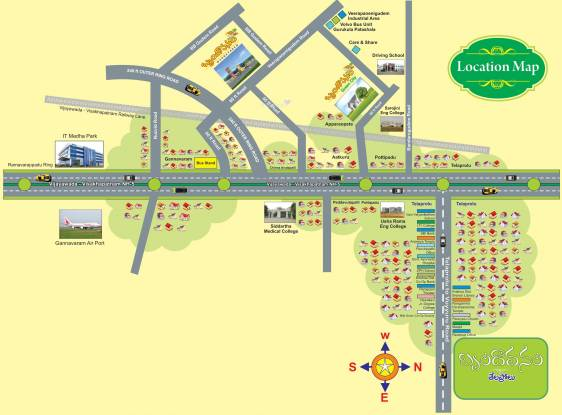 Sai Brundavanam Location Plan