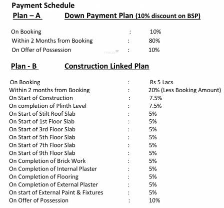 TDI Wellington Heights Extension Payment Plan