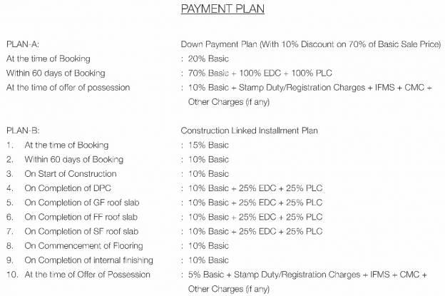 TDI Casa Floors Payment Plan