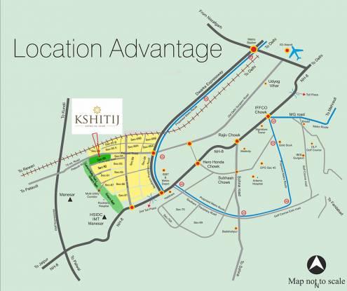 Ramsons Kshitij Location Plan