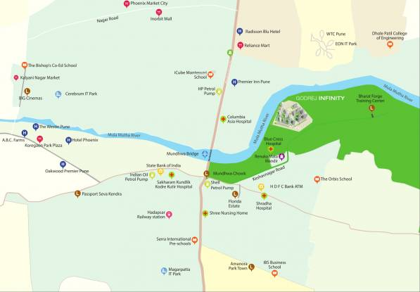 Godrej Infinity Location Plan