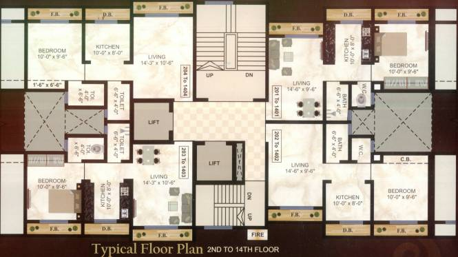 Aura Rudra Heights Cluster Plan