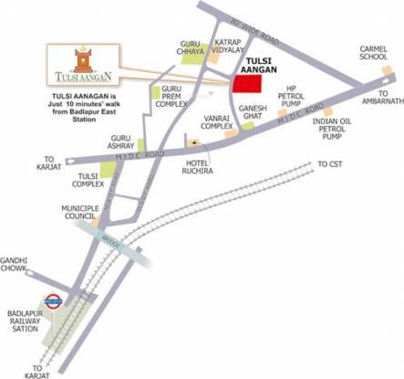 Tulsi Aangan Location Plan